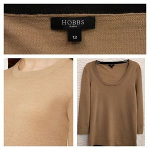 3/$30 Hobbs London Merino Wool Sweater in Camel